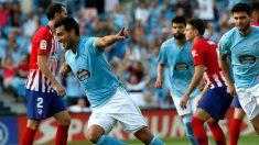Maxi Gomez celebra su gol al Atletico de Madrid. (Getty)