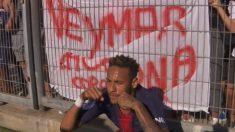Neymar, tras anotar el primer gol del PSG.