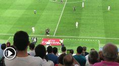 Así reaccionó el Bernabéu tras el tanto de Benzema.