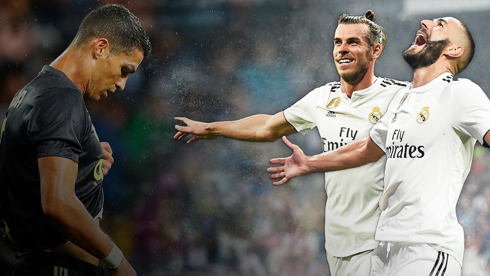 Bale y Benzema mejoran a Cristiano.
