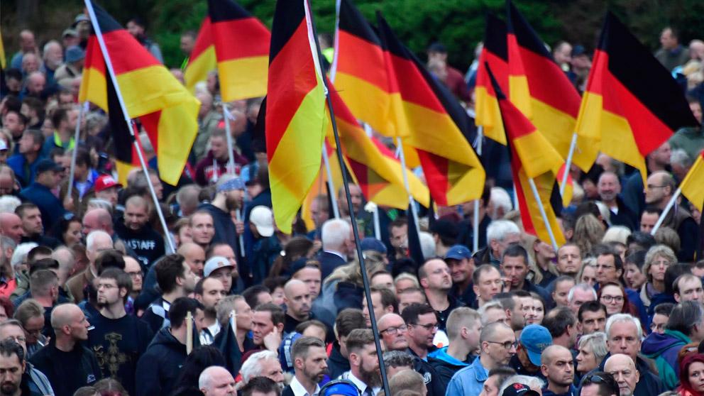 Manifestaciones en Chemnitz (Foto: AFP)