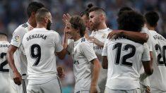 Los jugadores del Madrid celebran un gol (Getty).