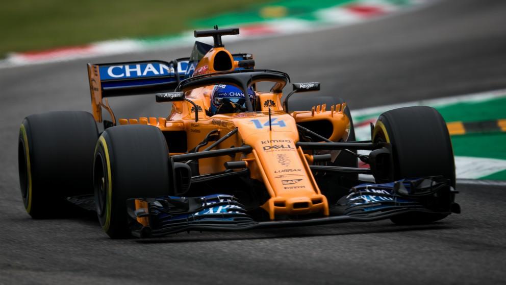 Fernando Alonso, en un Gran Premio de esta temporada. (Getty)