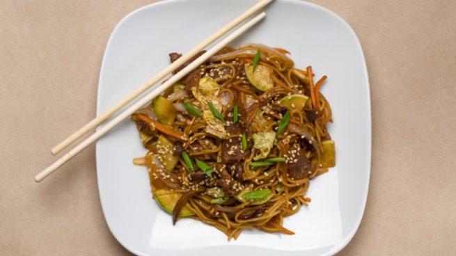Fideos chinos vegetarianos
