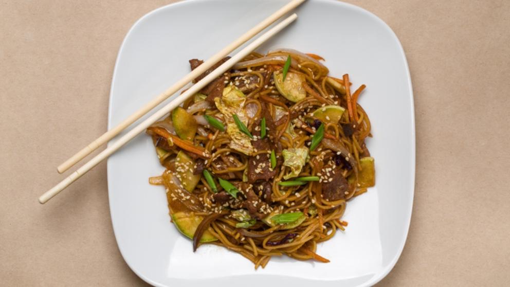 Receta de fideos chinos vegetarianos fáciles de preparar