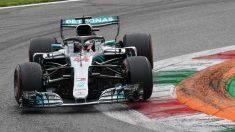 Lewis Hamilton durante el Gran Premio de Italia de Fórmula 1. (AFP)
