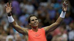 Nadal celebra su triunfo en el US Open. (AFP)