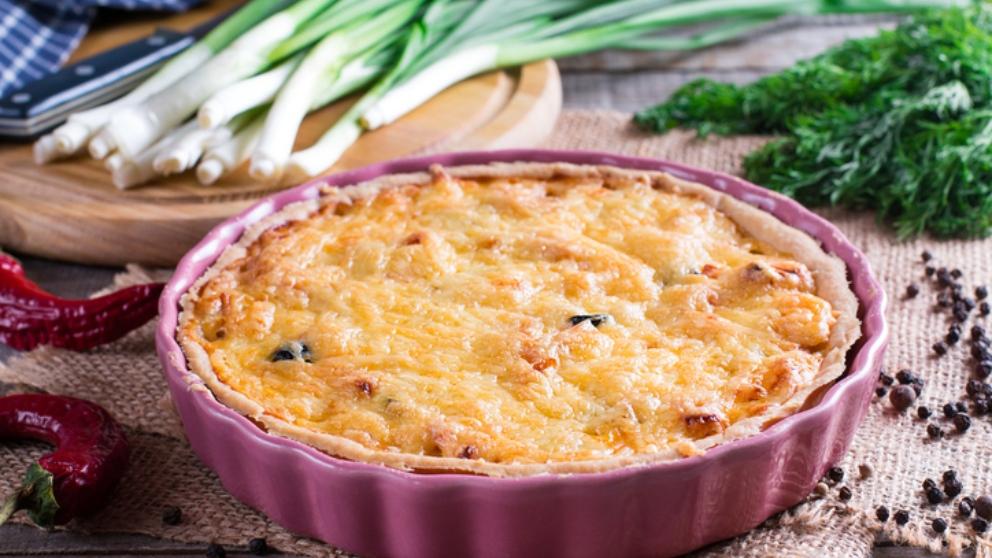 Receta de Quiche de puerros y jamón york fácil de preparar
