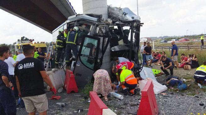Accidente autobús Avilés