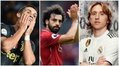 Cristiano, Salah y Modric, candidatos al premio The Best de la FIFA.