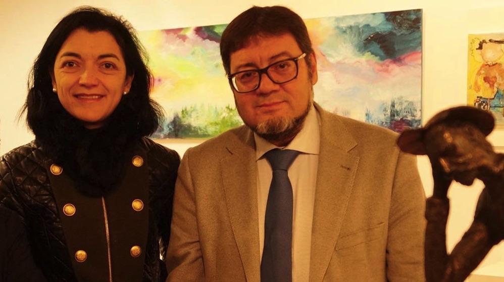 El concejal de Leganés y su mujer.