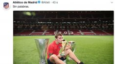 El tuit del Atlético de Madrid contra la FIFA por dejar a Antoine Griezmann fuera del premio The Best.