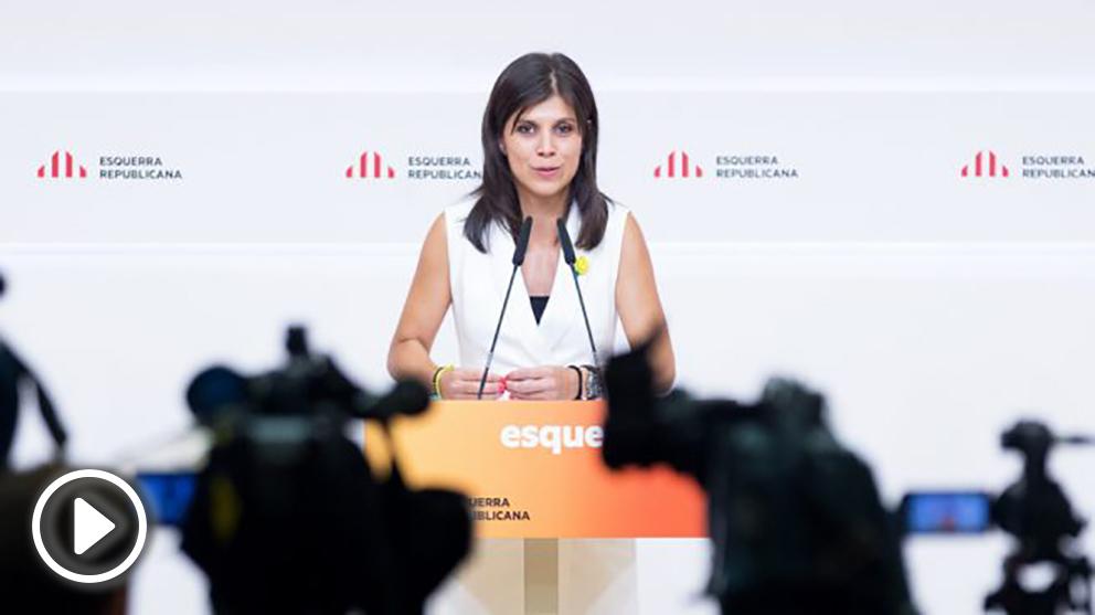 Marta Vilalta, portavoz de ERC. (Foto: EFE)