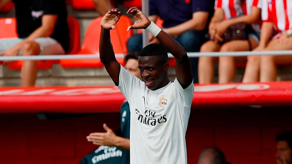 Vinicius celebra un gol ante el Atlético de Madrid B. (Real Madrid)