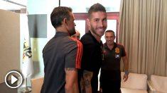 El primer 'encontronazo' entre Sergio Ramos y Luis Enrique.