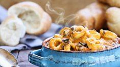 Receta de sopa de tortellini y carne fácil de preparar