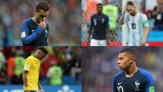 Antoine Griezmann, Leo Messi, Neymar y Mbappé.