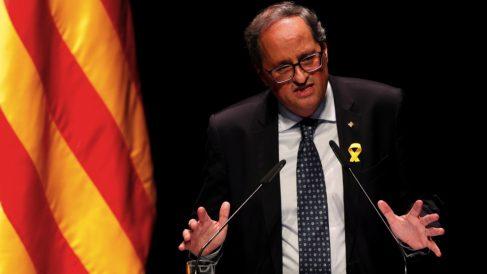 El presidente de la Generalitat, Quim Torra. (Foto. EFE)