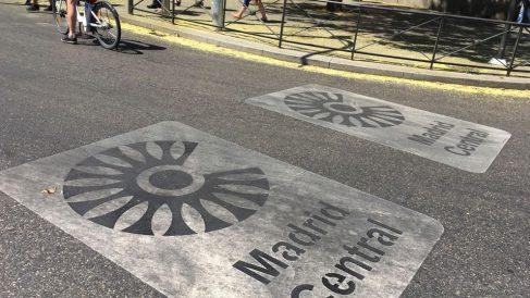 Entrada al área de prioridad residencial Madrid Central. (Foto. OKDIARIO)