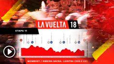 Así es la undécima etapa de la Vuelta a España.