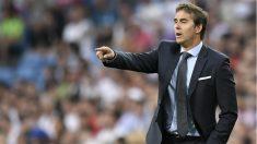 Lopetegui durante un partido del Real Madrid esta temporada. (AFP)