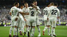 Los jugadores del Real Madrid celebran un gol (Getty)
