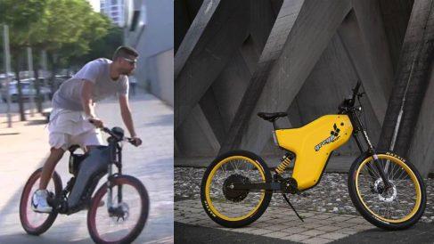 Gerard Piqué y la bicicleta Greyp G12S.