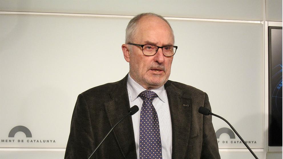 Rafael Ribó, Síndic de Greuges, en el Parlament de Cataluña. (EP)