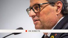 Sigue en directo la comparecencia de Quim Torra hoy para exponer su propuesta política para los próximos meses en Cataluña.