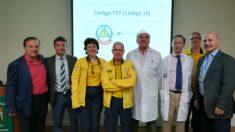 Personal del servicio de cardiología de la Fundación Jiménez Díaz y del Samur durante la presentación del código TEP (Fuente: Samur)