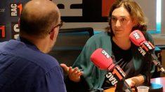 Ada Colau durante una entrevista en RAC1. Foto: Europa Press