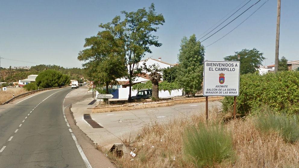 Localidad de El Campillo, en Huelva, donde se produjo el suceso.