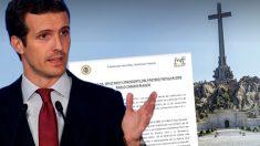 La Familia Franco le pide a Pablo Casado a través de un escrito que pare la exhumación ante el TC