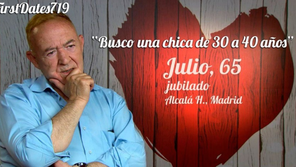 Julio ha demostrado en 'First Dates',  que es un hombre con mucho vivido