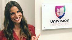 Lucía Villalón tras fichar por Univisión. (Instagram)