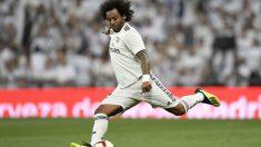 Marcelo, durante un partido con el Real Madrid. (AFP)