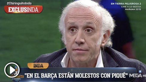 Eduardo Inda, en El Chiringuito de Jugones.