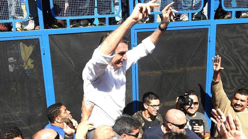 Jair Bolsonaro en un reciente acto electoral (Foto: AFP).