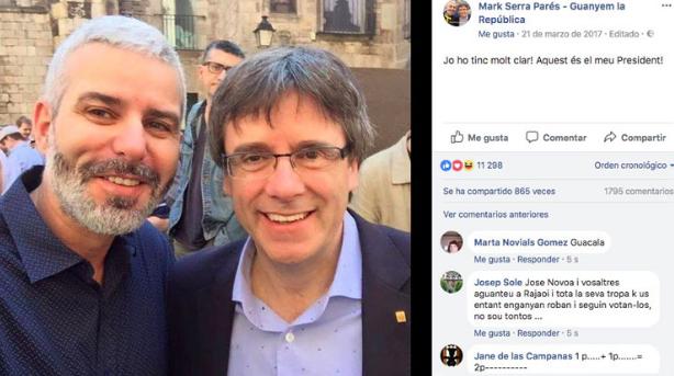 Mark Serra es considerado un hombre muy cercano a Puigdemont