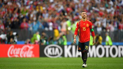 Sergio Ramos durante el pasado Mundial 2018 de Rusia. (Getty)