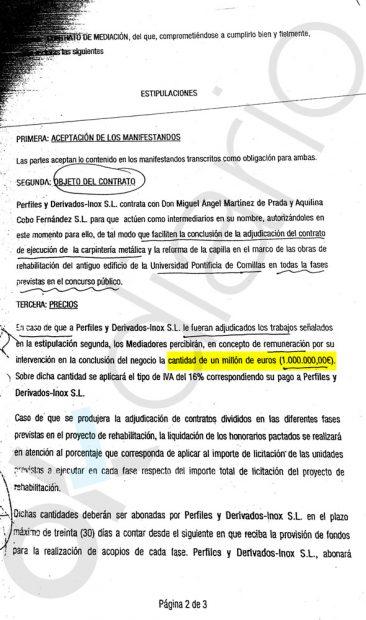 Un alto cargo de Revilla pactó por escrito una comisión de un millón por amañar un concurso público