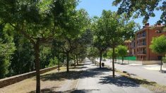 Paseo Josep Borrell, en Pobla de Segur (Lérida). (EP)