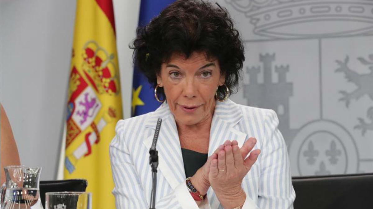 Isabel Celáa, en La Moncloa (EFE).