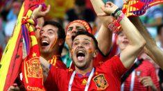Aficionados españoles durante el Mundial. (Getty)