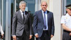 El ministro del Interior, Fernando Grande-Marlaska, y el director de la Policía, Francisco Pardo. (Foto: Ministerio del Interior)