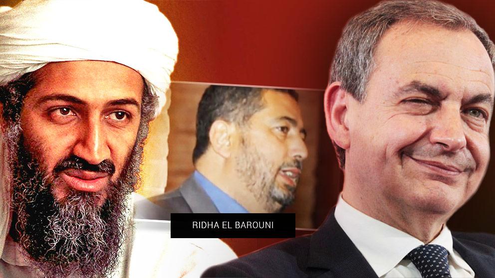 Osama Bin Laden, el tunecino Ridha El Barouni y José Luis Rodríguez Zapatero.