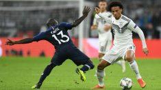 Sané, durante un duelo ante Francia. (AFP)