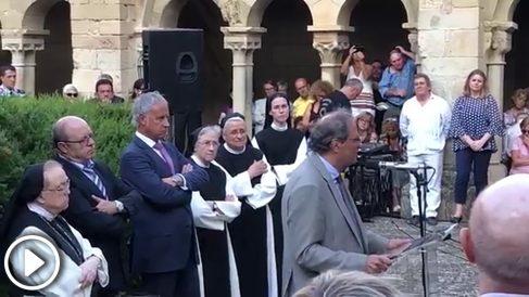 Quim torra en el monasterio de Ballbona