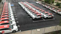 Vehículos eléctricos de Wible en Madrid, propiedad de Repsol