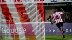 Drenthe celebra el gol de la victoria. (Sparta Rotterdam)